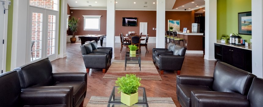 The District at Saxony Apartment Homes in Fishers clubhouse